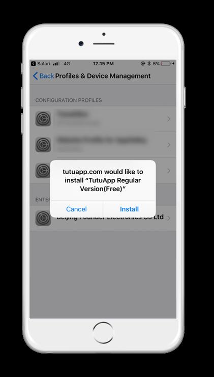TUTUApp Installation