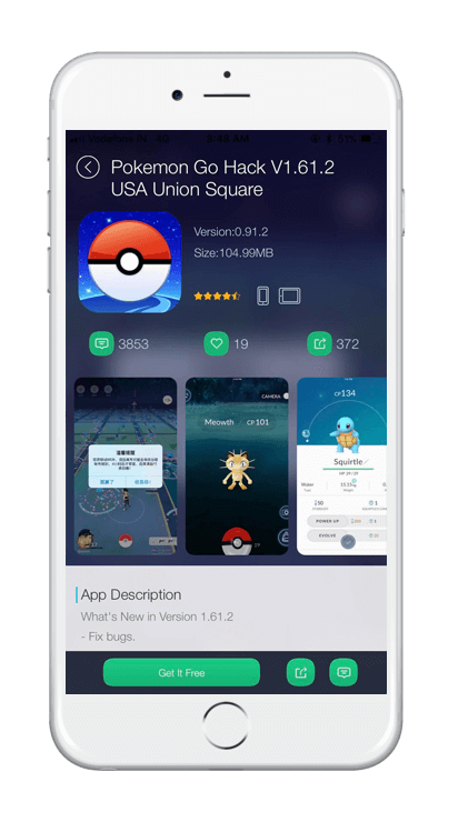 TUTUApp Pokemon GO Screenshot